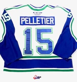 2019/20 Raphael Pelletier Authentic Game Worn White Jersey