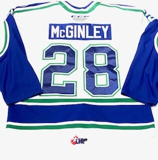 2019/20 Sam McGinley Authentic Game Worn White Jersey