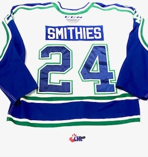 2019/20 Tyler Smithies Authentic Game Worn White Jersey