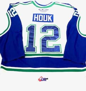 2019/20 Eric Houk Authentic Game Worn White Jersey