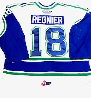 2019/20 Ethan Regnier Authentic Game Worn White Jersey