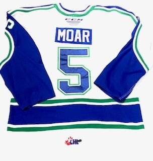 2019/20 Alex Moar Authentic Game Worn White Jersey