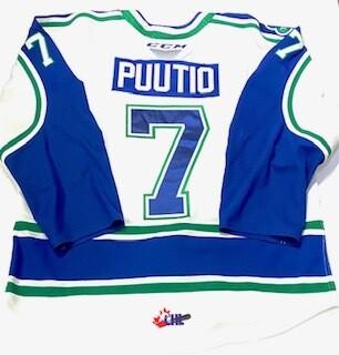 2019/20 Kasper Puutio Authentic Game Worn White Jersey
