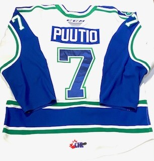 2019/20 Kasper Puutio Authentic Game Worn White Jersey