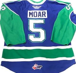 2019/20 Alex Moar Authentic Game Worn Blue Jersey