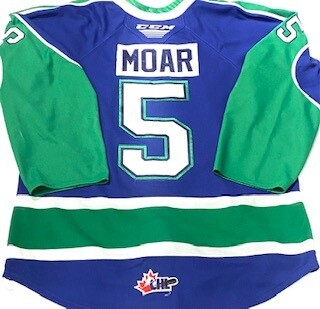 2019/20 Alex Moar Authentic Game Worn Blue Jersey