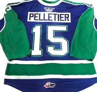 2019/20 Raphael Pelletier Authentic Game Worn Blue Jersey