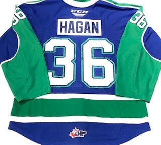 2019/20 Bode Hagan Authentic Game Worn Blue Jersey