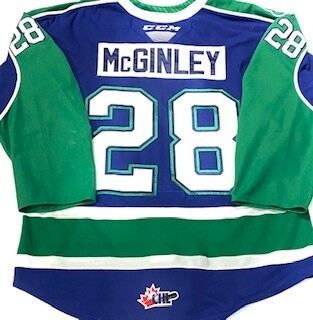2019/20 Sam McGinley Authentic Game Worn Blue Jersey