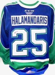 2020/21 Hub Edition Carter Halamandaris Game Worn Blue Jersey