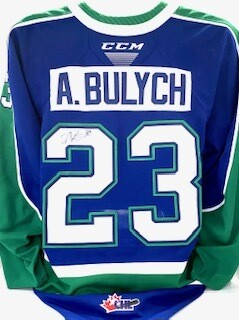 2020/21 Hub Edition Aiden Bulych Game Worn Blue Jersey
