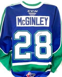 2020/21 Hub Edition Sam McGinley Game Worn Blue Jersey