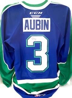 2020/21 Hub Edition Devin Aubin Game Worn Blue Jersey