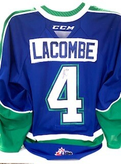2020/21 Hub Edition Authentic Chase Lacombe Game Worn Blue Jersey