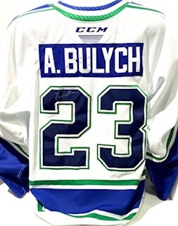 2020/21 Hub Edition Authentic Aiden Bulych Game Worn White Jersey