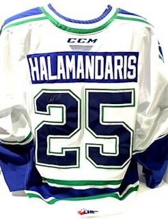 2020/21 Hub Edition Authentic Carter Halamandaris Game Worn White Jersey