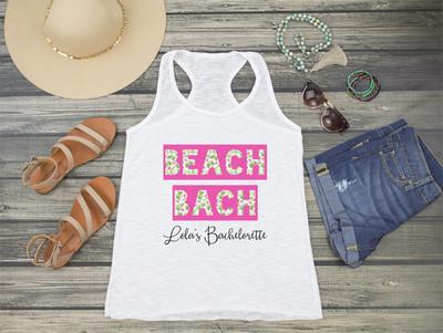 Beach Bach Tropical Floral Bachelorette Racerback Tank Top