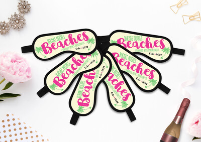 Buenas Noches Beaches - Personalized Sleep Mask - Bachelorette Party Favors - Bachelorette Bridesmaid Gift Ideas