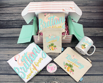 Beach Wedding Flamingo Bridesmaid Proposal Box – Personalized Bridesmaid Gift - Will You Be My Bridesmaid
