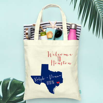 Fancy State Welcome Destination Map Tote Bag