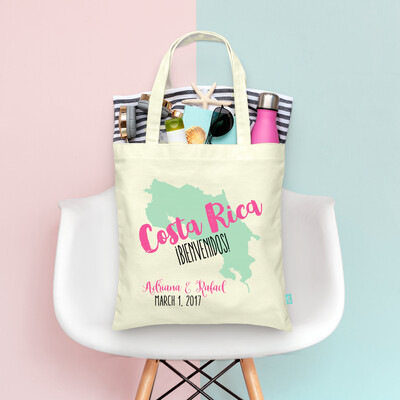 Destination Map Bold Country Tote Bag