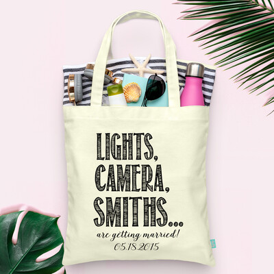 Lights, Camera Action Wedding Welcome Tote