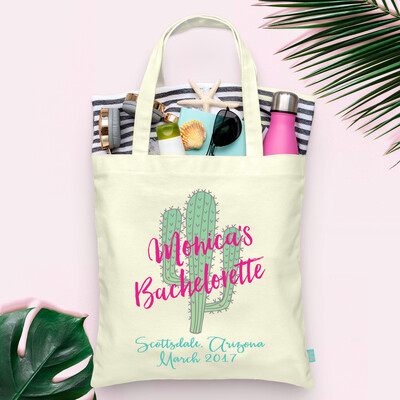 Arizona Scottsdale Bachelorette Cactus Bachelorette Tote Bag