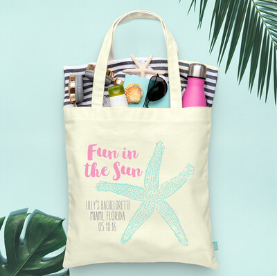 Fun in the Sun Beach Bachelorette Tote Bags