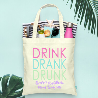 Drink Drank Drunk Bachelorette Party Tote Bag