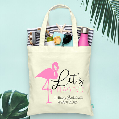 Lets Flamingle Fancy Bachelorette Tote Bag