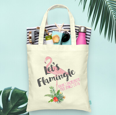 Lets Flamingle Palm Springs Bachelorette Tote Bag