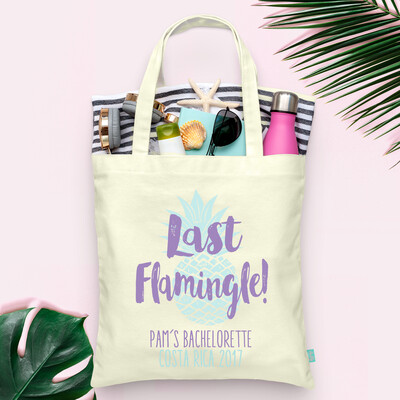 Last Flamingle Pineapple Bachelorette Tote Bag