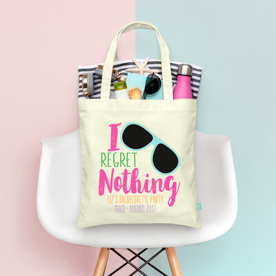No Regrets I Regret Nothing Funky Bachelorette Tote Bag