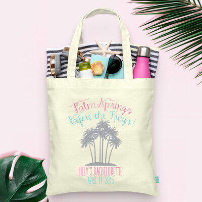 Palm Springs Before the Ring Bachelorette Tote Bag