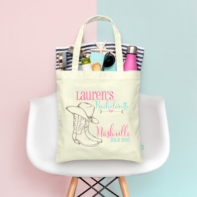 Nashville Country Boots Nash Bash Bachelorette Tote Bag