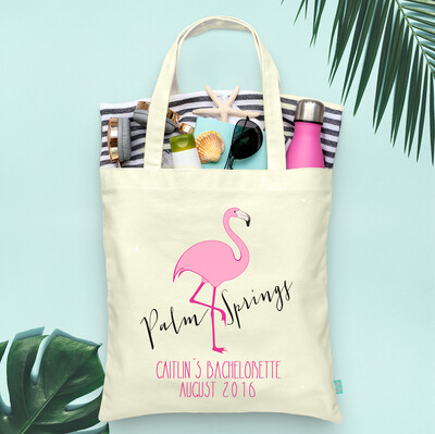 Palm Springs Flamingo Bachelorette Tote