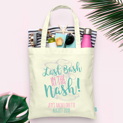 Nashville Last Bash in the Nash Country Boots Bachelorette Tote Bag