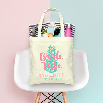 Pineapple Bride Tribe Bachelorette Tote Bag