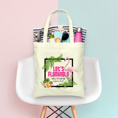 Retro Lets Flamingle Palm Springs Bachelorette Tote Bag