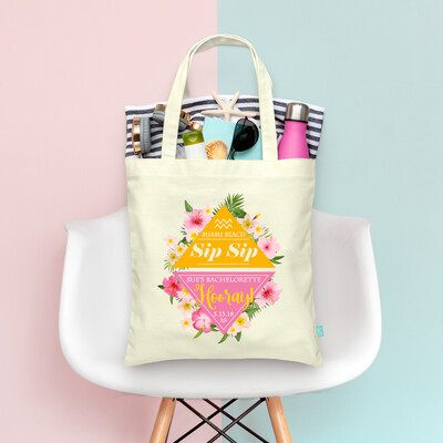 Sip Sip Hooray Destination Beach Bachelorette Party Tote
