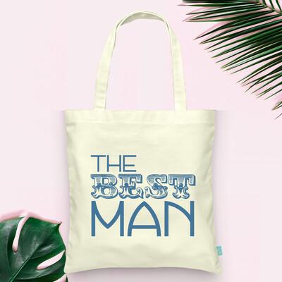 Best Man Wedding Party Tote Bag