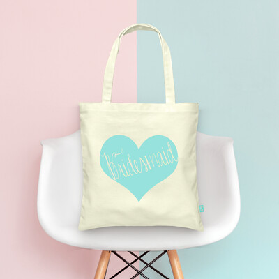Bridesmaid Heart -Bridal Party Wedding Tote Bag