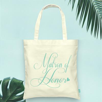 Fancy Matron of Honor Wedding Tote Bag