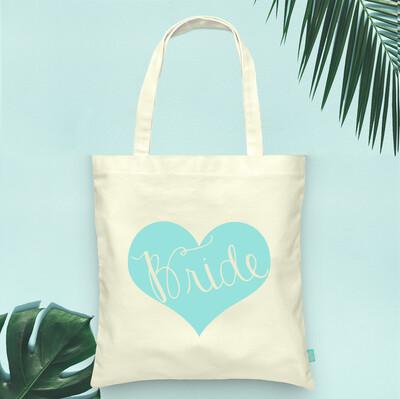 Fancy Bride Heart Tote Bag