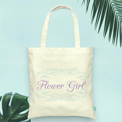 Fancy Flower Girl -Bridal Party Tote Bag