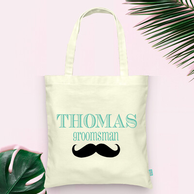 Personalized Groomsmen Stach-Bridal Party Tote Bag