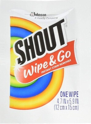 Shout Instant Stain Remover Towelette