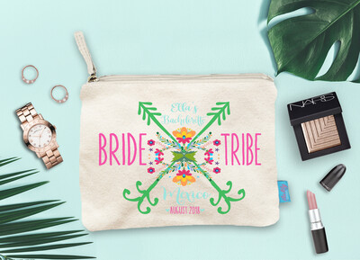 Bride Tribe Mexico Bachelorette Party Floral Makeup Cosmetic