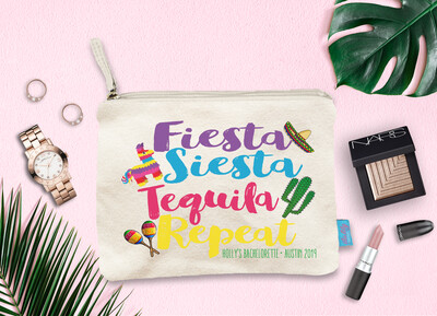 Fiesta Siesta Tequila Repeat Mexico Bachelorette Party Cabo Crew Makeup Cosmetic