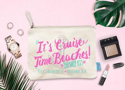 Its Cruise Time Beach Bachelorette Cruise Oh Ship Makeup Cosmetic Bag